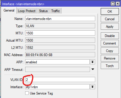 A VLAN interface under the Ethernet one, remember to use VLAN Id 2.