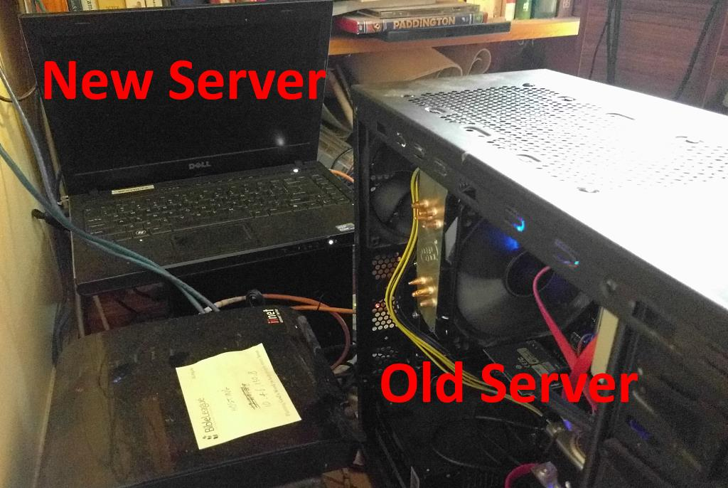 My (old) new server! And my actual old server.