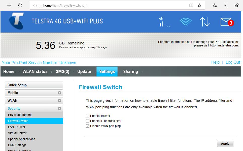 Mikrotik and LTE via Telstra / Huawei E8372 | Murray's Blog