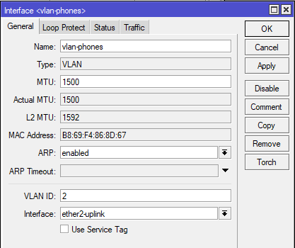 Example vLAN Interface
